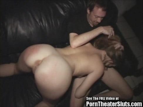 petite salope se fait demonter au cinema porno