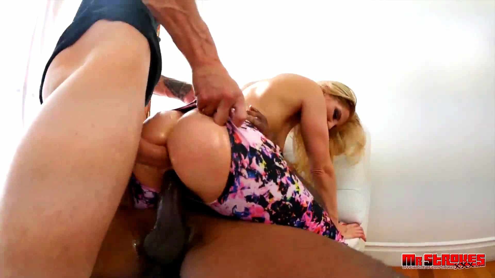 ashley fires en trioslime interracial